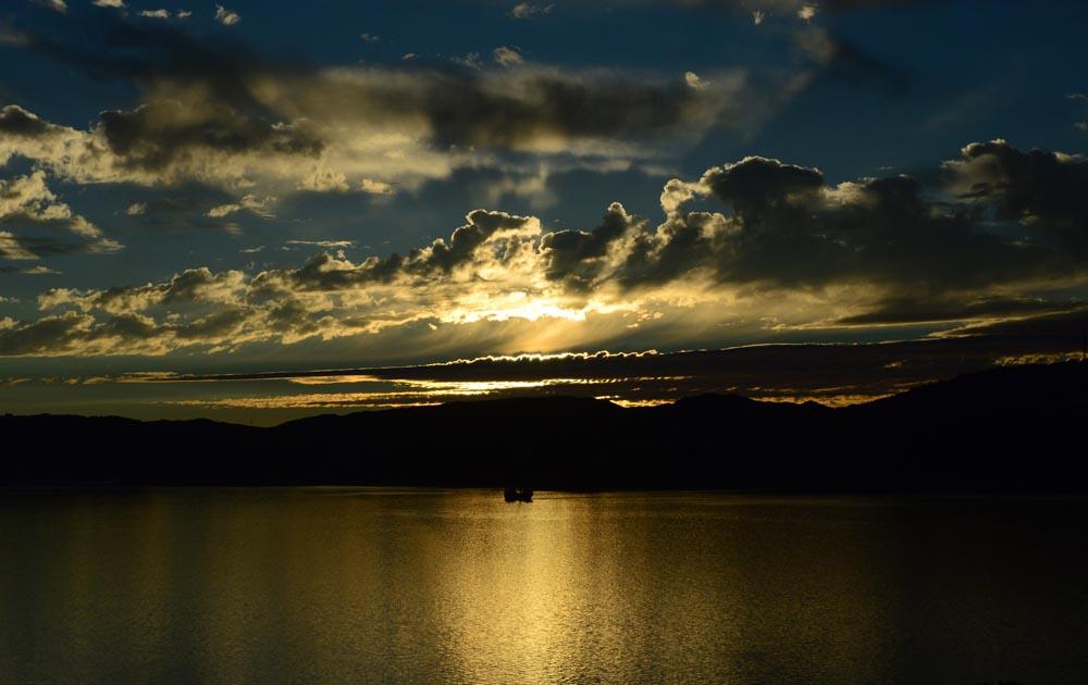 Sunset  view from Matiu Island