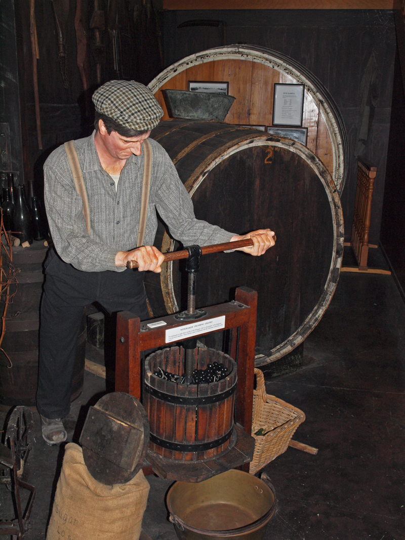 Museum exhibit  Wine making